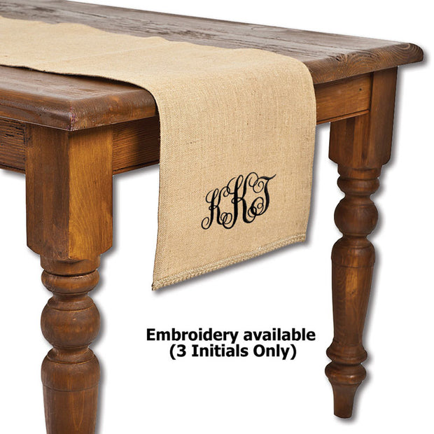 Natural Burlap Table Runner-HOME/GIFTWARE-ECOACCENTS-DEFAULT TITLE-Kevin's Fine Outdoor Gear & Apparel