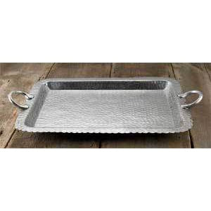 Hammered Scallop Rectangle Tray-HOME/GIFTWARE-India Handicrafts, Inc.-Kevin's Fine Outdoor Gear & Apparel