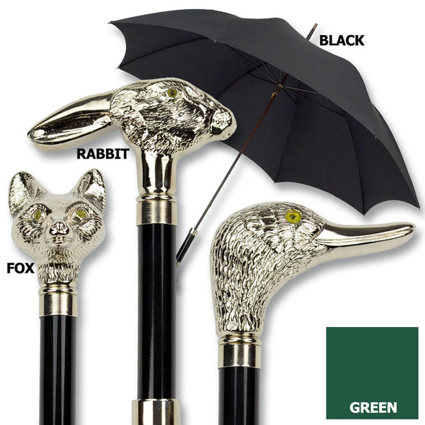 Nickel Finish Animal Head Umbrella