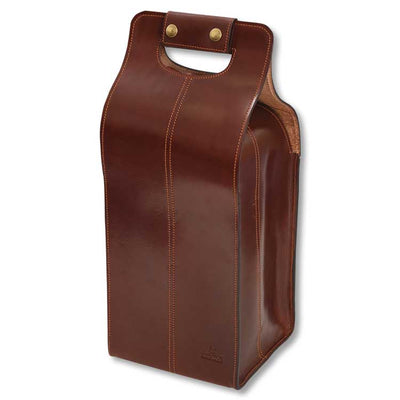 Kevin's Leather 4 Bottle Tote