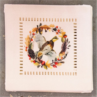 "6"" Square Quail coaster set(6)-HOME/GIFTWARE-Flying Quail-Kevin's Fine Outdoor Gear & Apparel"