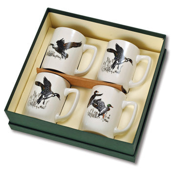 Waterfowl Porcelain Mug Gift Sets