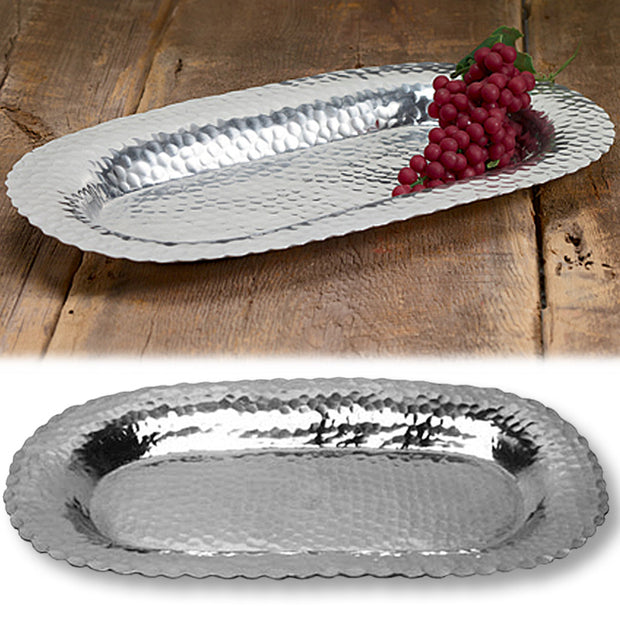 Hammered Oval Tray