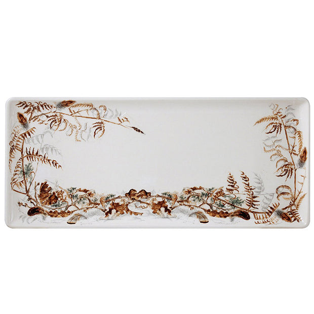 Sologne Oblong Serving Tray Foliage Pattern