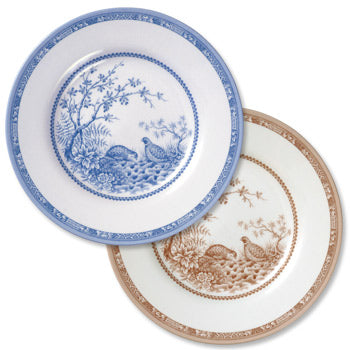 New Shape and Pattern! Quail China Dinner Plate