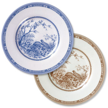 New Shape & Pattern! Quail China Bread & Butter