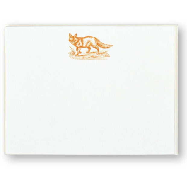 Sporting Note Card Sets-HOME/GIFTWARE-Maison De Papier-FOX (ORANGE)-Kevin's Fine Outdoor Gear & Apparel