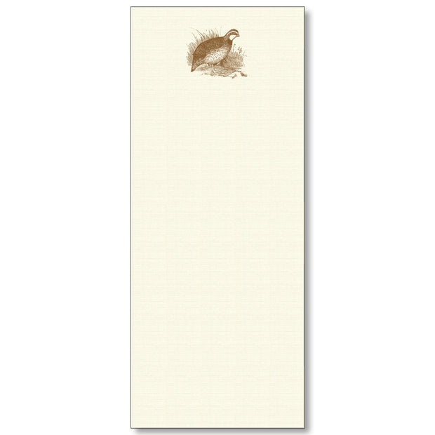 Maison de Papier Long Notepads-HOME/GIFTWARE-QUAIL-Kevin's Fine Outdoor Gear & Apparel