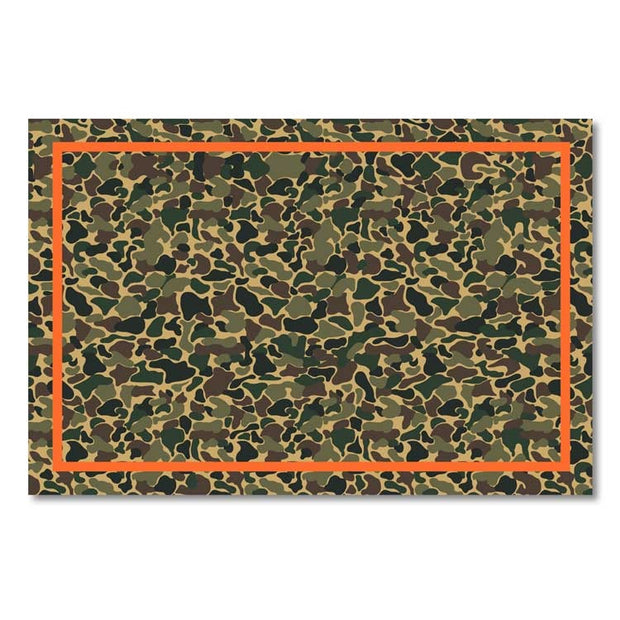 Kevin's Linen Placemats in Sporting Themes-HOME/GIFTWARE-Maison De Papier-CAMO WITH BLAZE-Kevin's Fine Outdoor Gear & Apparel