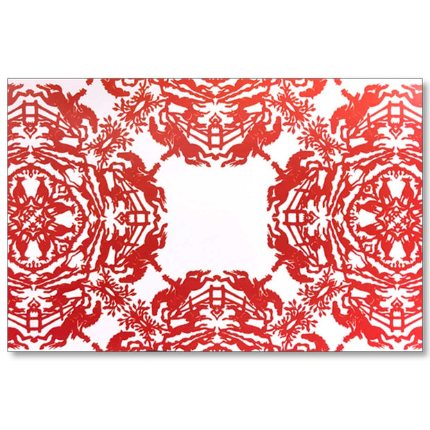 Kevin's Linen Placemats in Sporting Themes-HOME/GIFTWARE-RED HUNT MEDALL-Kevin's Fine Outdoor Gear & Apparel