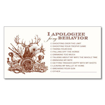 Kevin's Apology Notecard 10 Pack
