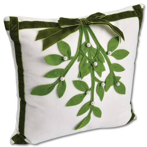 Mistletoe Square Pillow