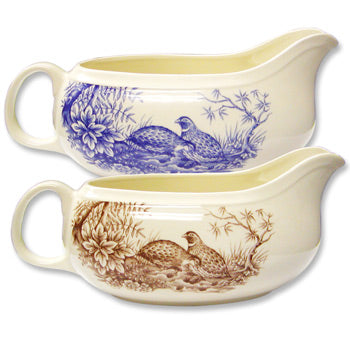 New Shape and Pattern! Quail China Sauce Boat