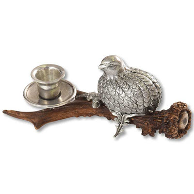 Kevin's Quail Antler Candle Holder