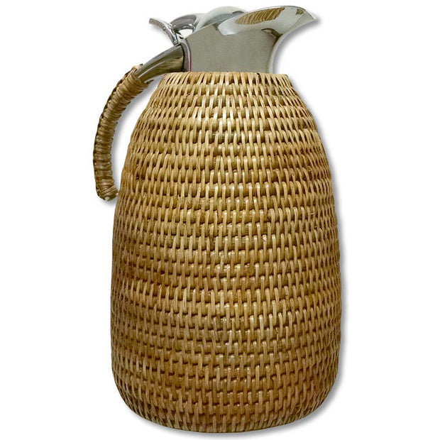 Wicker Glass Lined 1 Liter Thermos