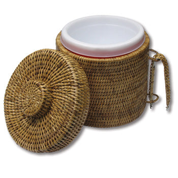 Wicker Tableware - Ice Bucket with Tongs