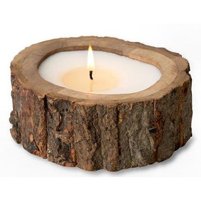 Irregular Raw Tree Bark Candle Pot 9 oz.