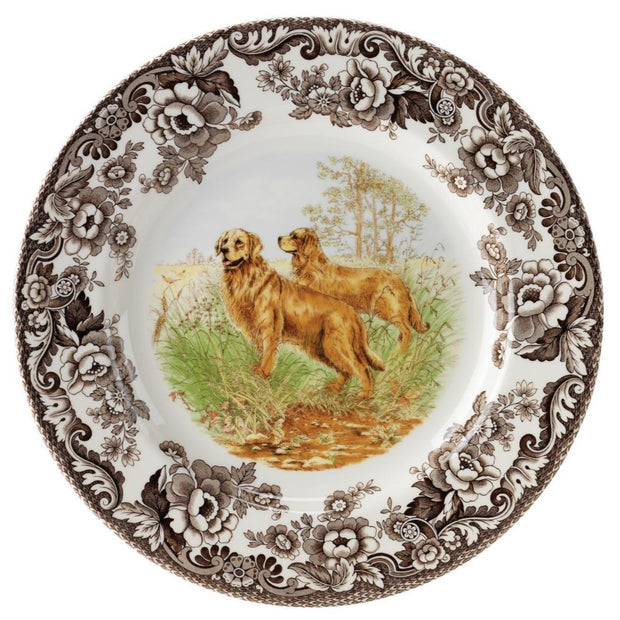 Spode Woodland Hunting Dog Dinner Plate-HOME/GIFTWARE-GOLDENRETRIEVER-Kevin's Fine Outdoor Gear & Apparel