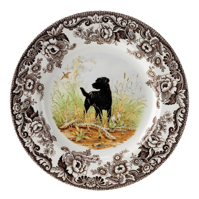 Spode Woodland Hunting Dog Dinner Plate-HOME/GIFTWARE-BLACK LAB-Kevin's Fine Outdoor Gear & Apparel