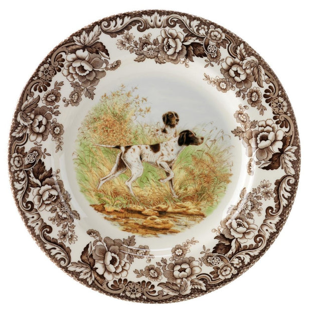 Spode Woodland Hunting Dog Dinner Plate-HOME/GIFTWARE-POINTER-Kevin's Fine Outdoor Gear & Apparel
