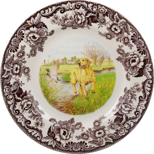 Spode Woodland Hunting Dog Dinner Plate-HOME/GIFTWARE-YELLOW LAB-Kevin's Fine Outdoor Gear & Apparel