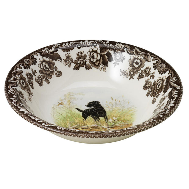 "Spode Woodland Hunting Dog Collection 8"" Cereal Bowl-HOME/GIFTWARE-BLACK LAB-Kevin's Fine Outdoor Gear & Apparel"