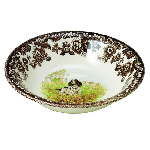 "Spode Woodland Hunting Dog Collection 8"" Cereal Bowl-HOME/GIFTWARE-ENGLISHSPRINGR-Kevin's Fine Outdoor Gear & Apparel"