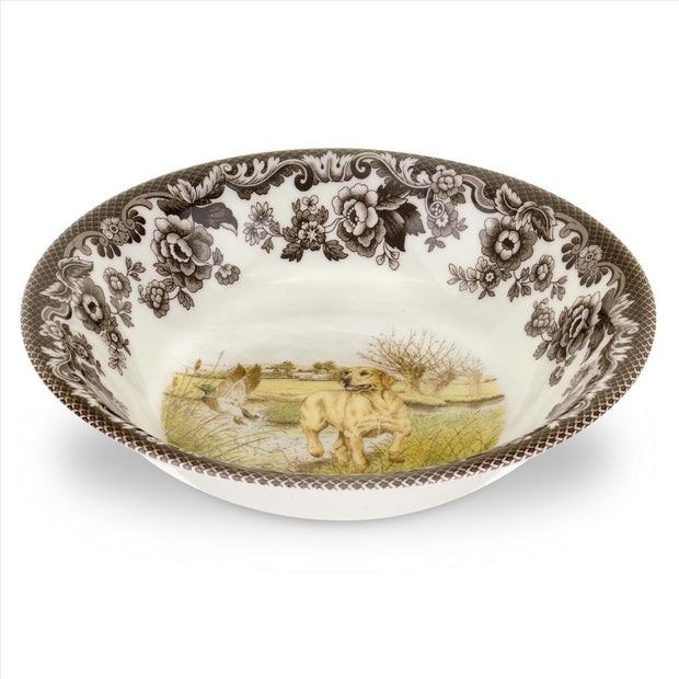 "Spode Woodland Hunting Dog Collection 8"" Cereal Bowl-HOME/GIFTWARE-YELLOW LAB-Kevin's Fine Outdoor Gear & Apparel"