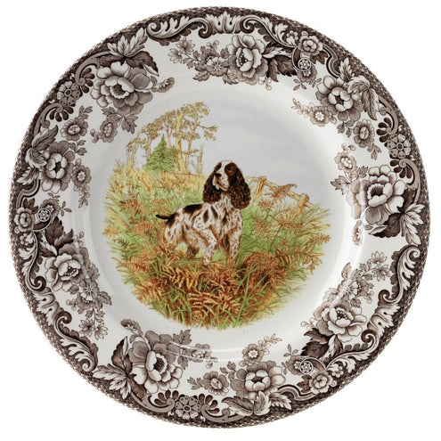 "Spode Woodland Hunting Dog Salad Plate 8""-HOME/GIFTWARE-ENGLISHSPRINGR-Kevin's Fine Outdoor Gear & Apparel"