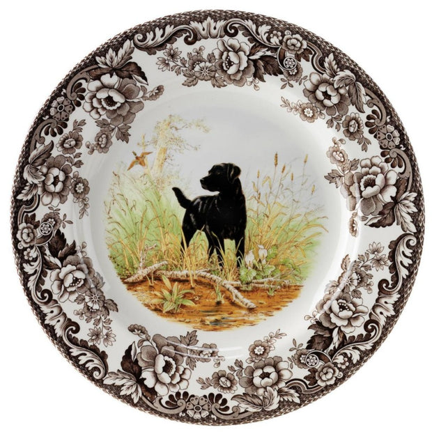 "Spode Woodland Hunting Dog Salad Plate 8""-HOME/GIFTWARE-BLACK LAB-Kevin's Fine Outdoor Gear & Apparel"