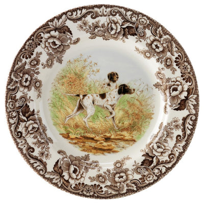 "Spode Woodland Hunting Dog Salad Plate 8""-HOME/GIFTWARE-POINTER-Kevin's Fine Outdoor Gear & Apparel"