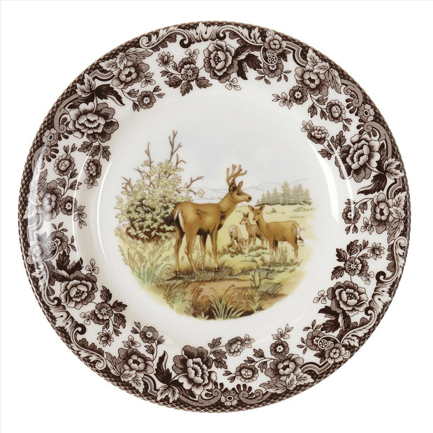 Spode Woodland Salad Plate-HOME/GIFTWARE-MULE DEER-Kevin's Fine Outdoor Gear & Apparel