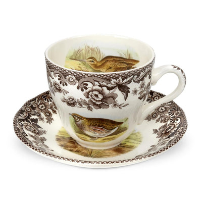 Spode Woodland Tea Cup & Saucer-HOME/GIFTWARE-Ouail/Pheasant/Snipe/Rabbit-Kevin's Fine Outdoor Gear & Apparel