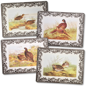 Spode Woodland Gamebird Rectangular Placemats Set