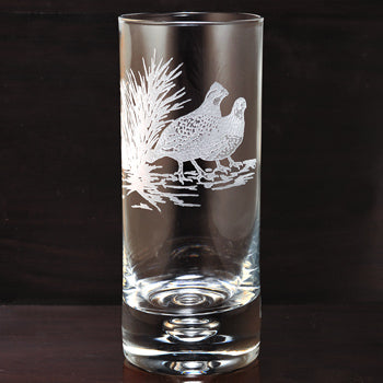 Kevin's Crystal Highball Glass 14 oz.-HOME/GIFTWARE-Evergreen Crystal , Inc.-BOB WHITE QUAIL-Kevin's Fine Outdoor Gear & Apparel