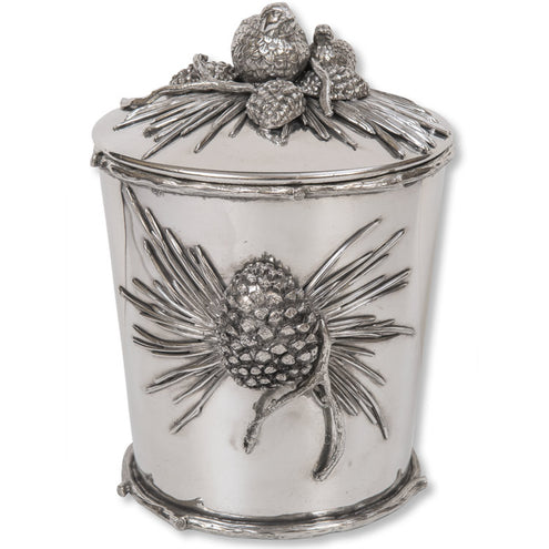 Quail & Pinecone Covered Ice Bucket
