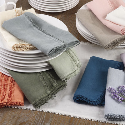 Pompom Design Napkin-HOME/GIFTWARE-Kevin's Fine Outdoor Gear & Apparel