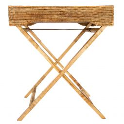 Kevin's Wicker Butler Tray/ Table-HOME/GIFTWARE-Vintage Concepts-Kevin's Fine Outdoor Gear & Apparel