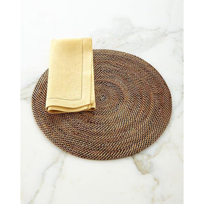Wicker Round Placemat 15""