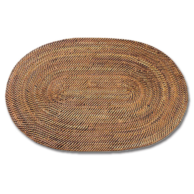 "Oval Wicker Placemat 18"" x 13"""