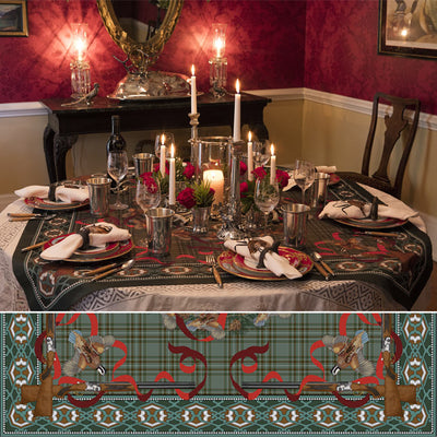 Kevin's Tartan Holiday Tablecloth