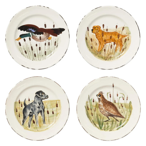 Vietri Wildlife Dinner Plate-HOME/GIFTWARE-BLACK HUNTING DOG-Kevin's Fine Outdoor Gear & Apparel