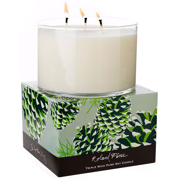 Roland Pine Soy Triple Wick Candle