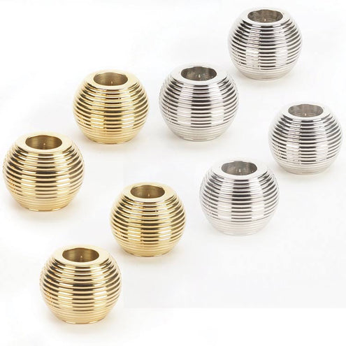 Ribbed Sphere Candle Holder