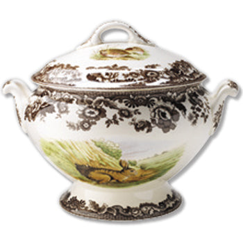 Spode Woodland Soup Tureen & Cover Rabbit/Quail/Pintail 4.25 Qt.