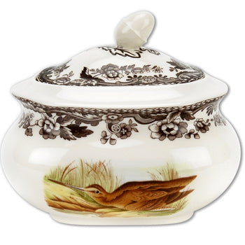 Spode Woodland Covered Sugar Bowl - Snipe/Pintail