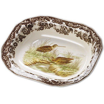 Spode Woodland Open Vegetable Dish - Snipe 9.5""