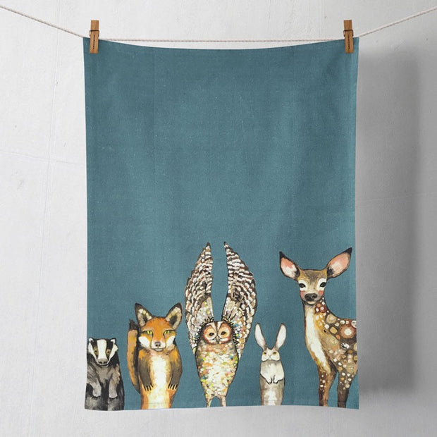 "Tea Towel's 21"" x 28"" 100% Cotton-HOME/GIFTWARE-Greenbox Art-FOREST ANIMALS-Kevin's Fine Outdoor Gear & Apparel"