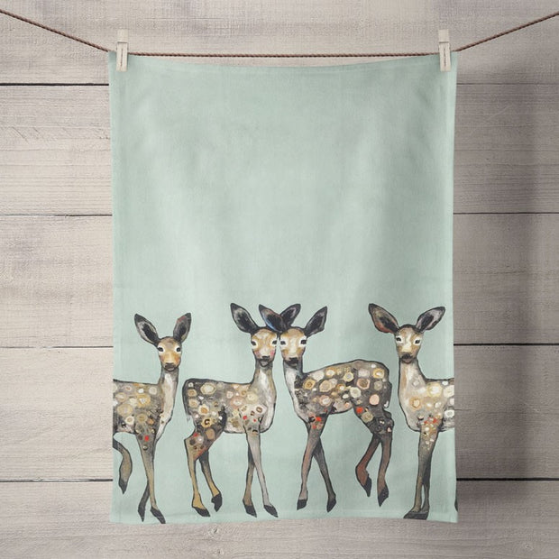 "Tea Towel's 21"" x 28"" 100% Cotton-HOME/GIFTWARE-Greenbox Art-DANCING FAWNS-Kevin's Fine Outdoor Gear & Apparel"