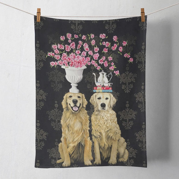 "Tea Towel's 21"" x 28"" 100% Cotton-HOME/GIFTWARE-Greenbox Art-GOLDEN COUPLE-Kevin's Fine Outdoor Gear & Apparel"